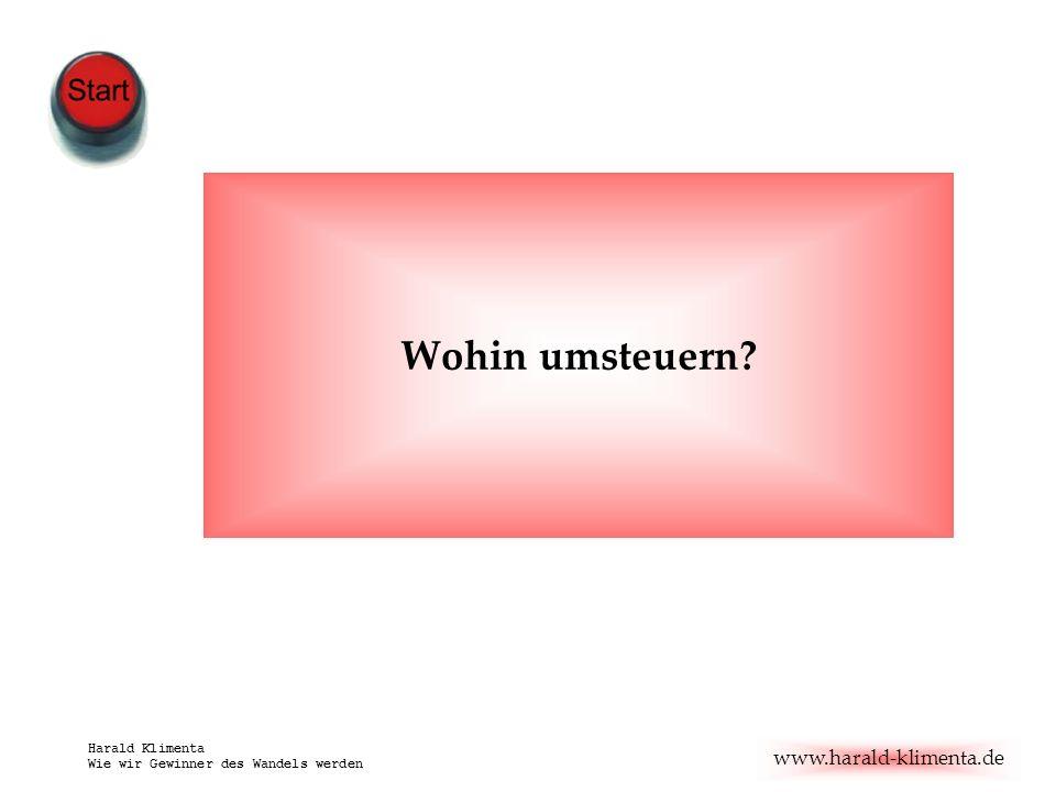www.harald-klimenta.de Harald Klimenta Wie wir Gewinner des Wandels werden Wohin umsteuern?