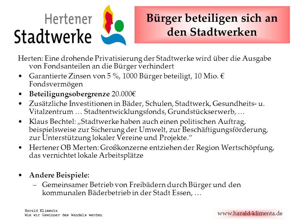 www.harald-klimenta.de Harald Klimenta Wie wir Gewinner des Wandels werden Steuerquote in Deutschland Nach: verdi-wipo-info 5/04