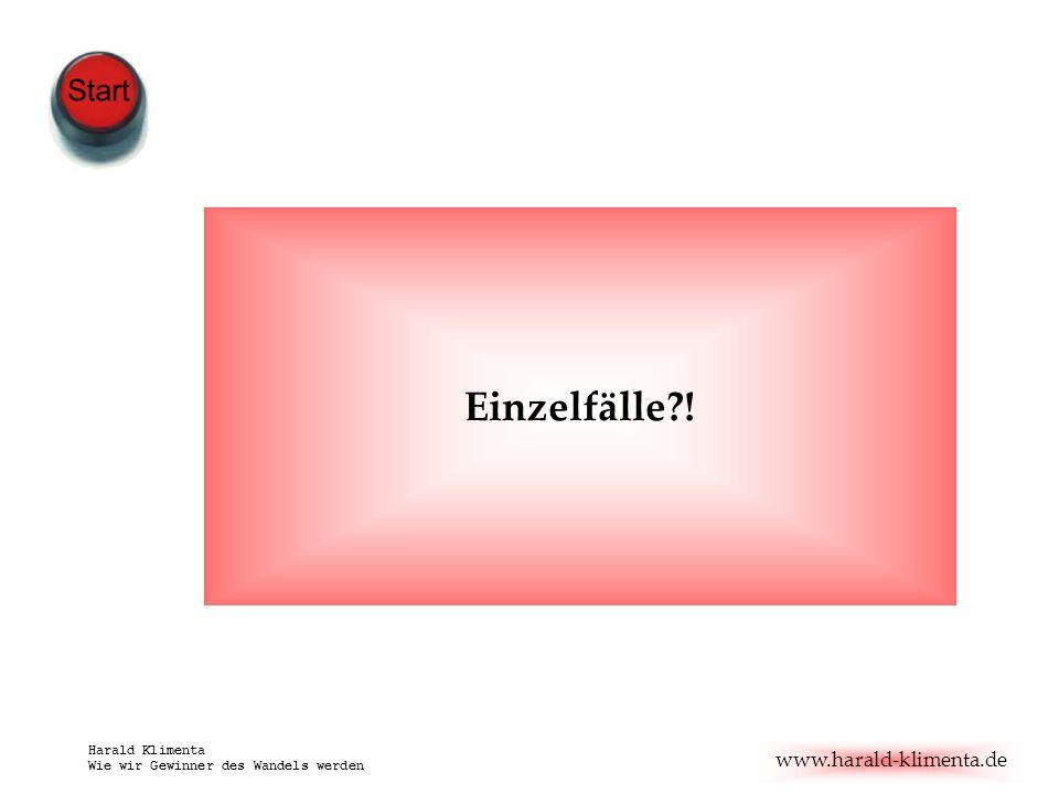 www.harald-klimenta.de Harald Klimenta Wie wir Gewinner des Wandels werden Einzelfälle?!