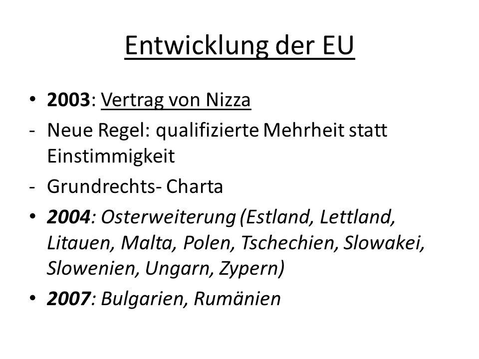 3 Säulen der EU Gemeinschaftspolitik: Wirtschafts– und Währungsunion Sozial-, Jugend- u.