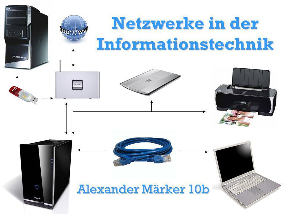 Netzwerke in der Informationstechnik Alexander Märker 10b