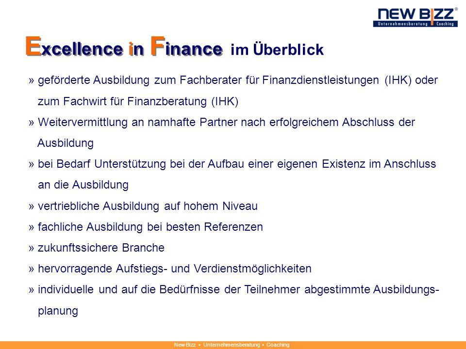 New Bizz Unternehmensberatung Coaching im Überblick » geförderte Ausbildung zum Fachberater für Finanzdienstleistungen (IHK) oder zum Fachwirt für Fin