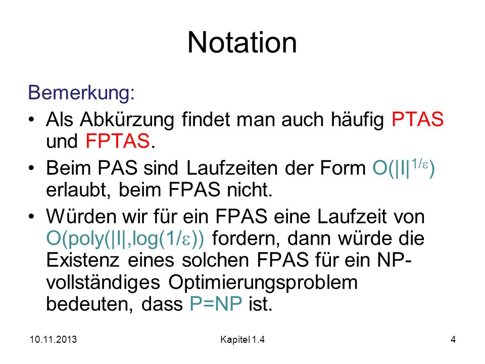 10.11.2013Kapitel 1215 FPAS für Rucksack p max : max.