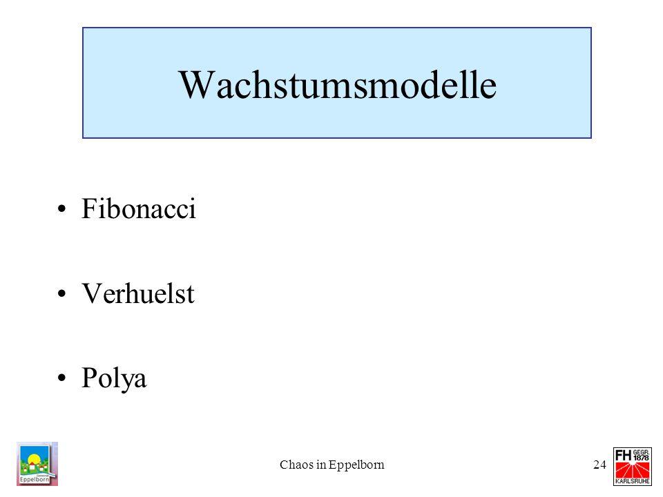 Chaos in Eppelborn24 Wachstumsmodelle Fibonacci Verhuelst Polya