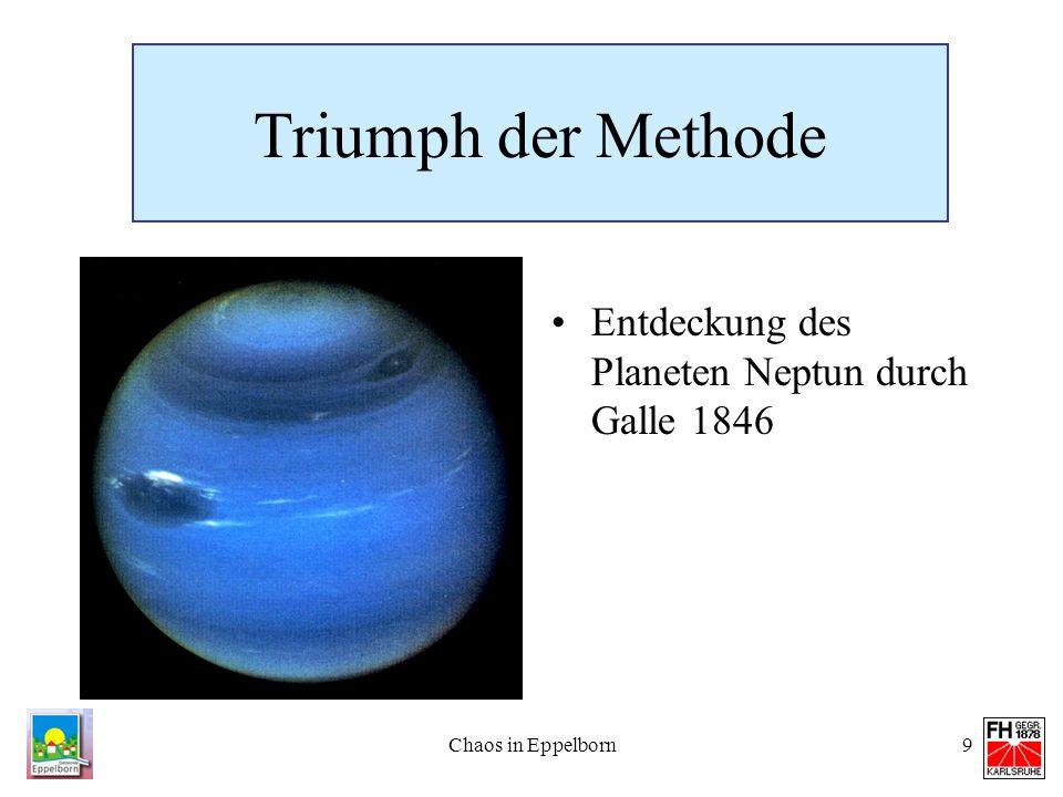 Chaos in Eppelborn9 Triumph der Methode Entdeckung des Planeten Neptun durch Galle 1846