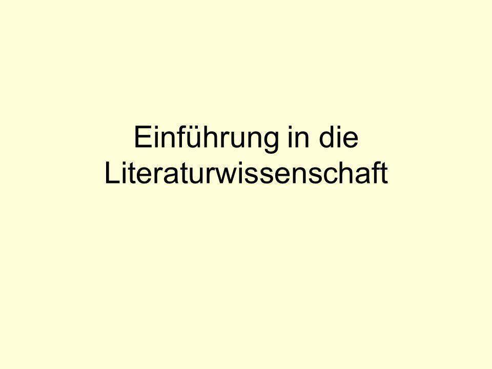 Themenübersicht Literarizität: Was unterscheidet literarische Texte von anderen sprachlichen Äußerungen.