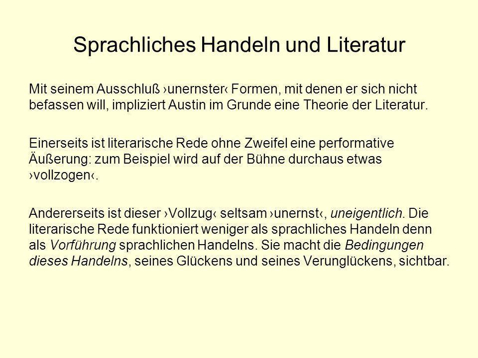 Autorschaft und Literatur Zu jenen Gattungen sprachlicher Äußerungen (»Diskurse«), die über die Funktion Autor verfügen, gehören literaturische Texte.