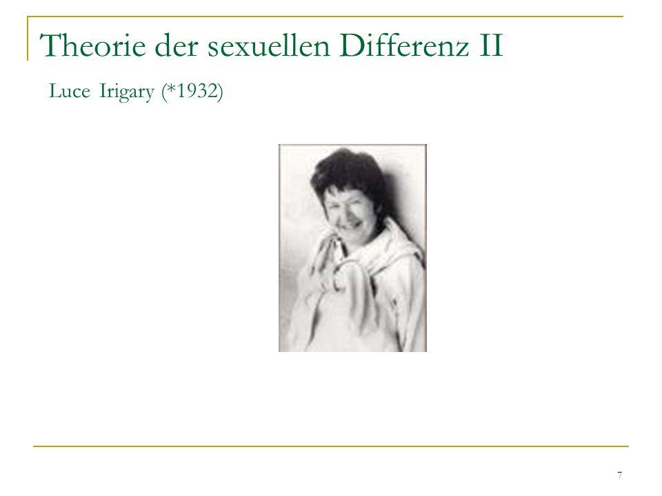 7 Theorie der sexuellen Differenz II Luce Irigary (*1932)