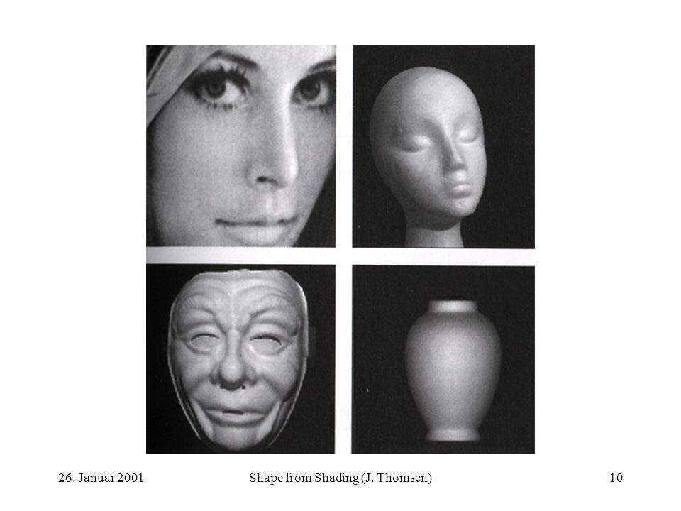 26. Januar 2001Shape from Shading (J. Thomsen)10