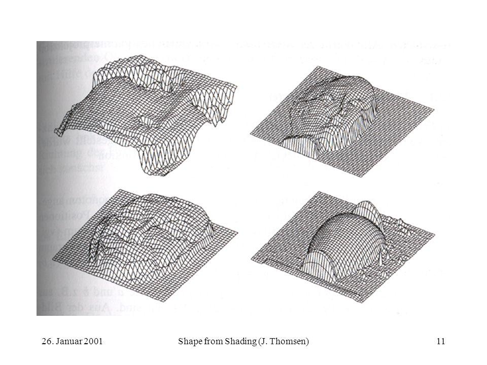 26. Januar 2001Shape from Shading (J. Thomsen)11