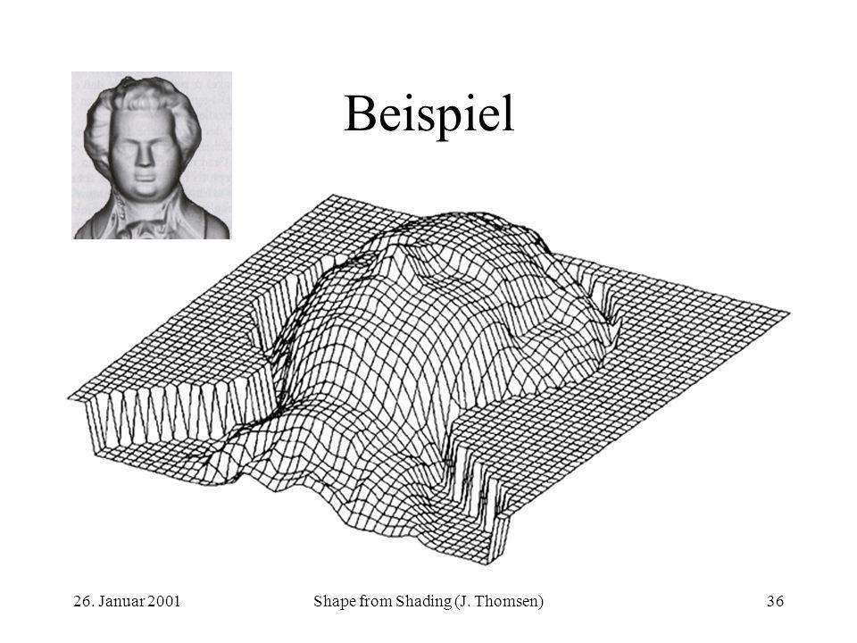 26. Januar 2001Shape from Shading (J. Thomsen)36 Beispiel