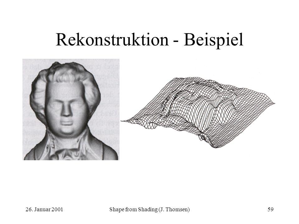 26. Januar 2001Shape from Shading (J. Thomsen)59 Rekonstruktion - Beispiel