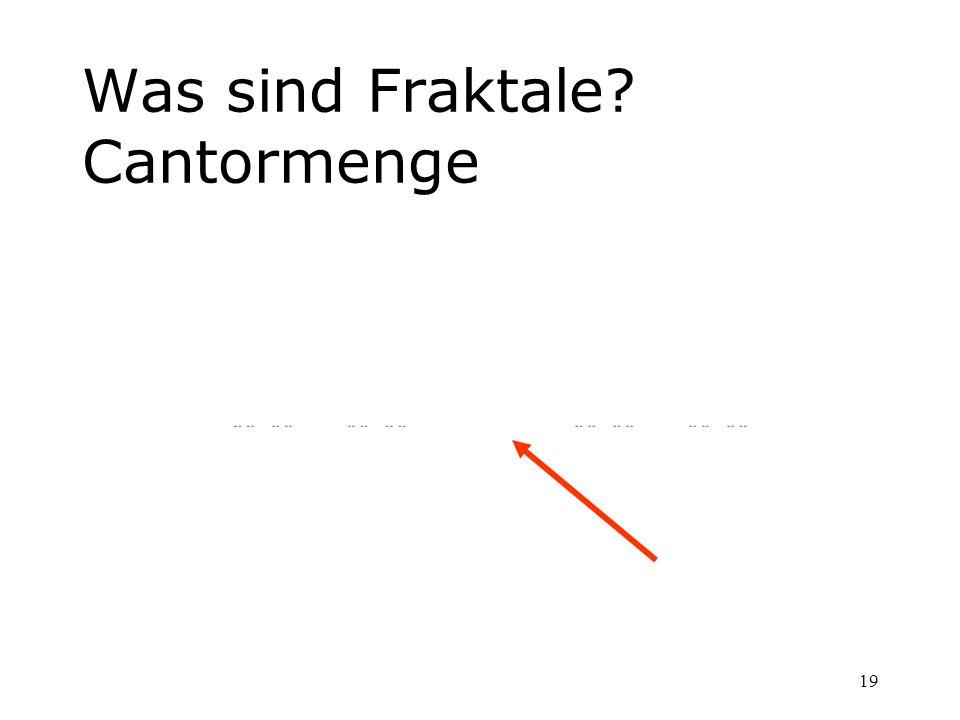 19 Was sind Fraktale? Cantormenge