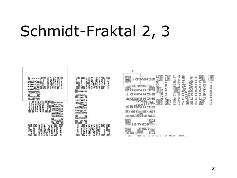 34 Schmidt-Fraktal 2, 3