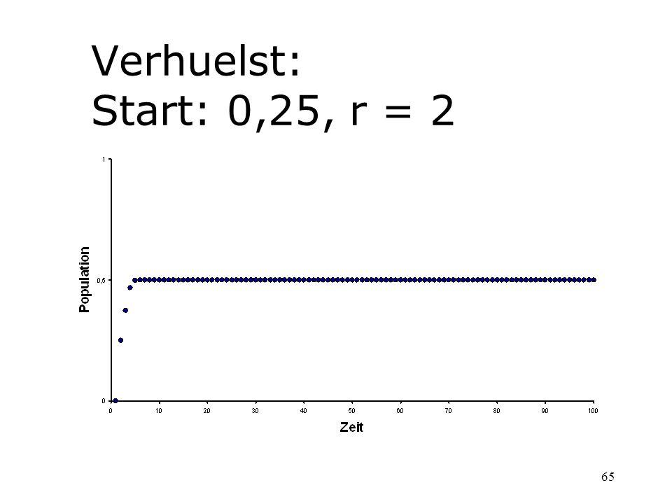 65 Verhuelst: Start: 0,25, r = 2
