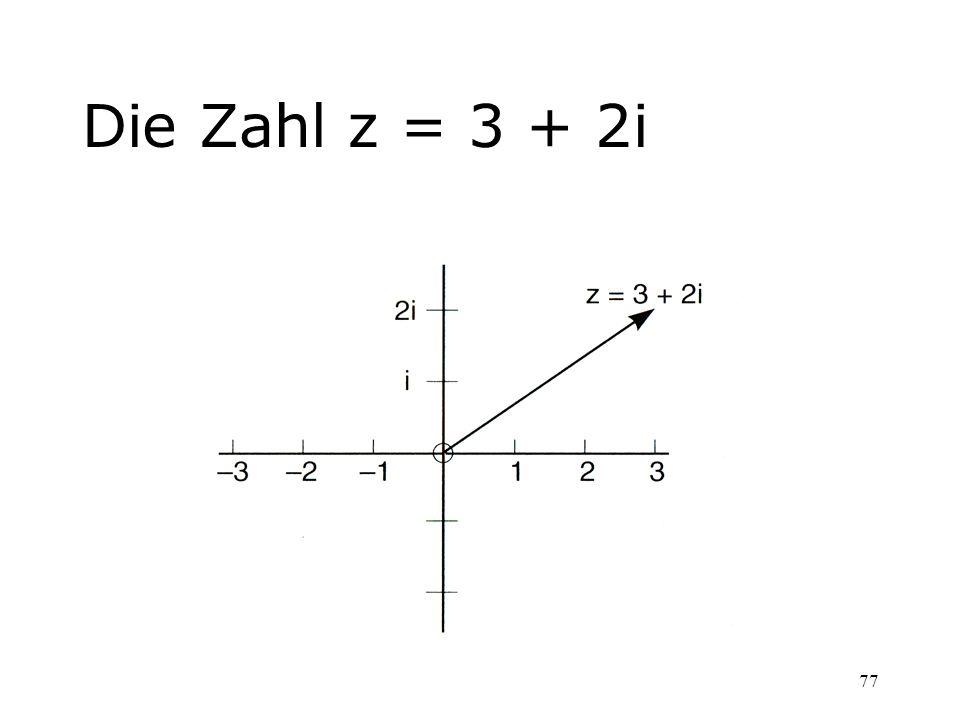 77 Die Zahl z = 3 + 2i