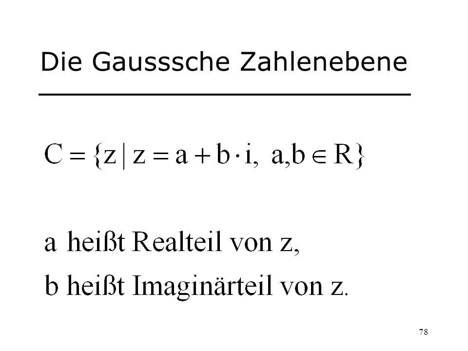 78 Die Gausssche Zahlenebene