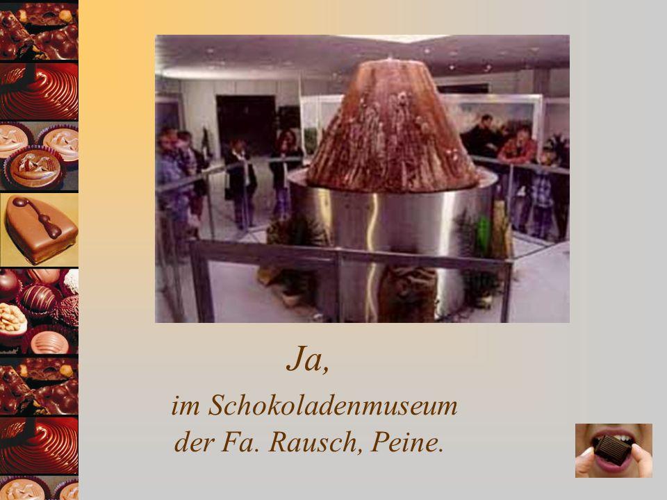 Ja, im Schokoladenmuseum der Fa. Rausch, Peine.