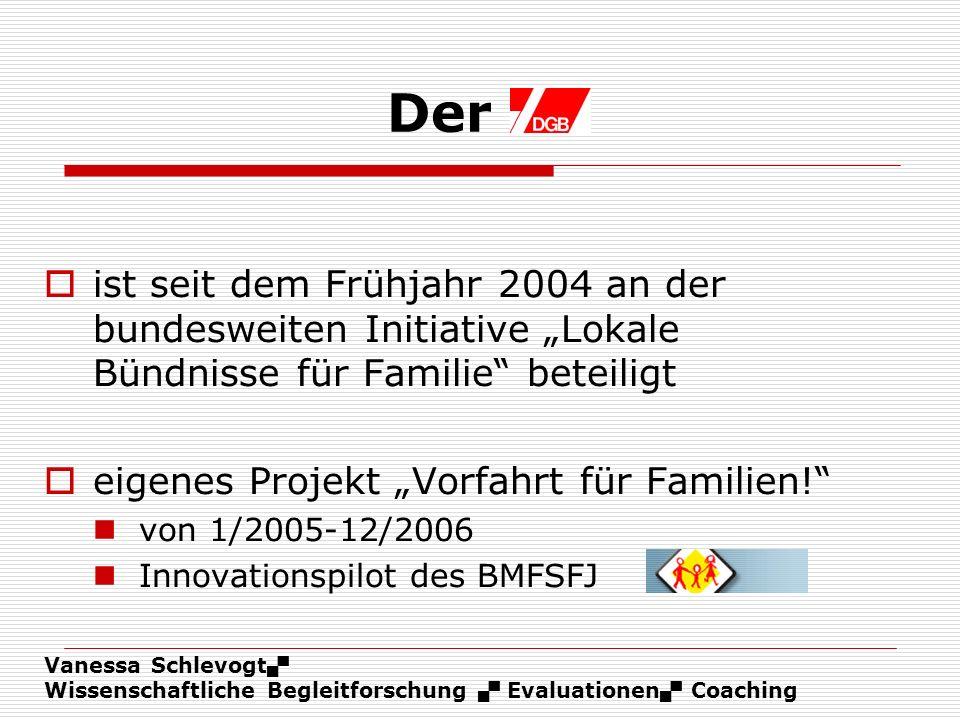 Vanessa Schlevogt Wissenschaftliche Begleitforschung Evaluationen Coaching Der ist seit dem Frühjahr 2004 an der bundesweiten Initiative Lokale Bündni