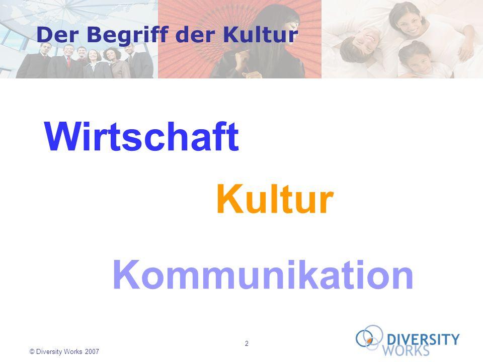 13 © Diversity Works 2007 Source: Plasonig & Buchleitner …30% durch Probleme strategischer Planung, Finanzierung, und Know-How Misserfolge in interkulturellen Joint Ventures