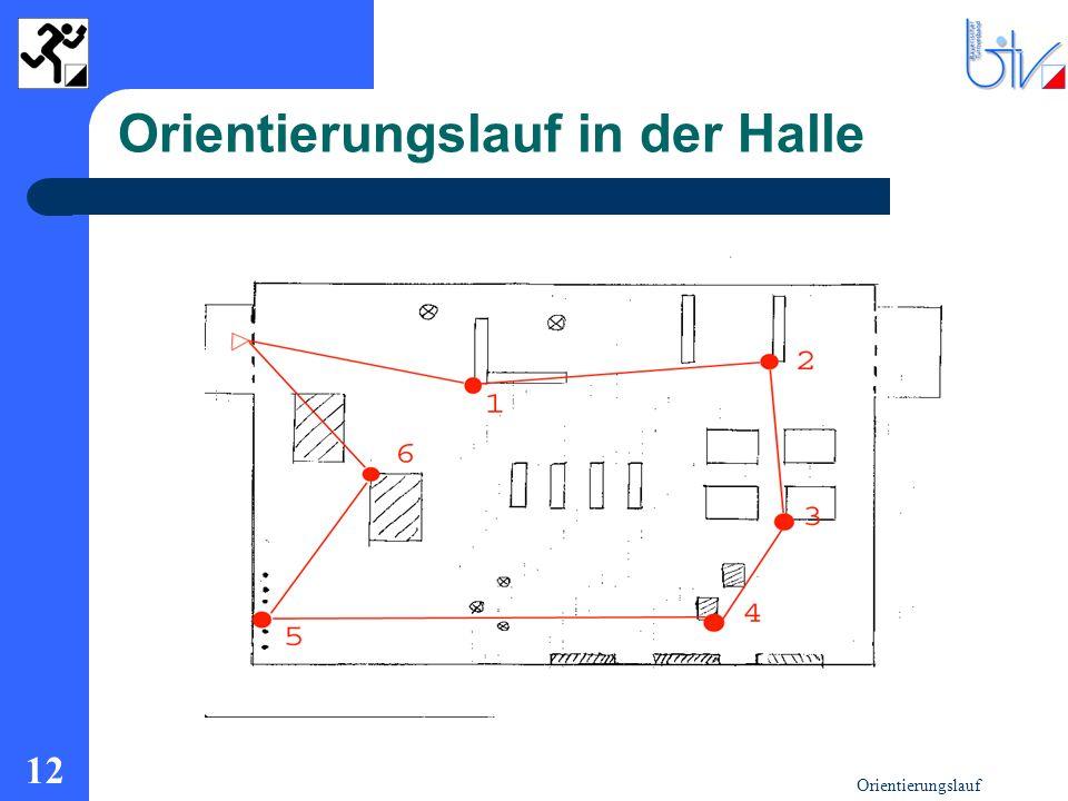 Orientierungslauf 12 Orientierungslauf in der Halle