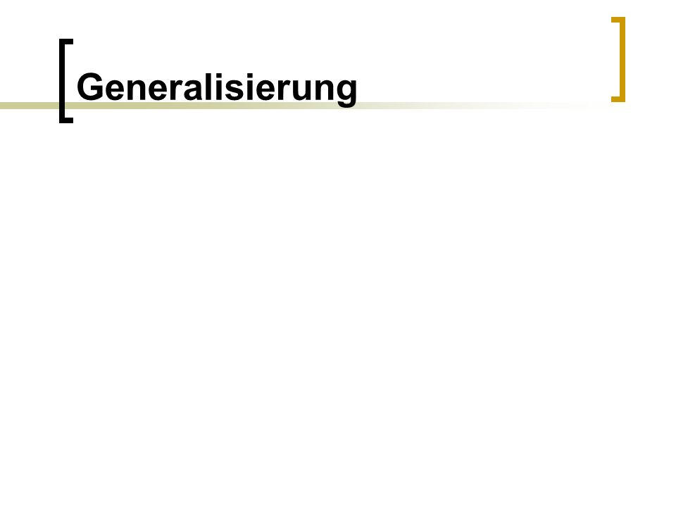 Generalisierung