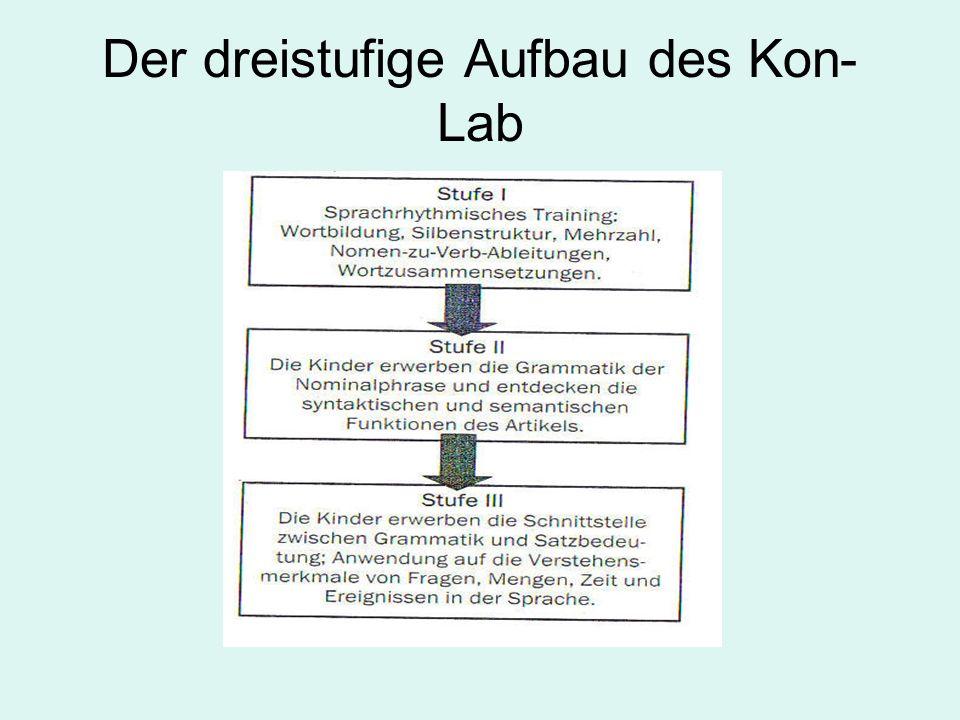 Der dreistufige Aufbau des Kon- Lab