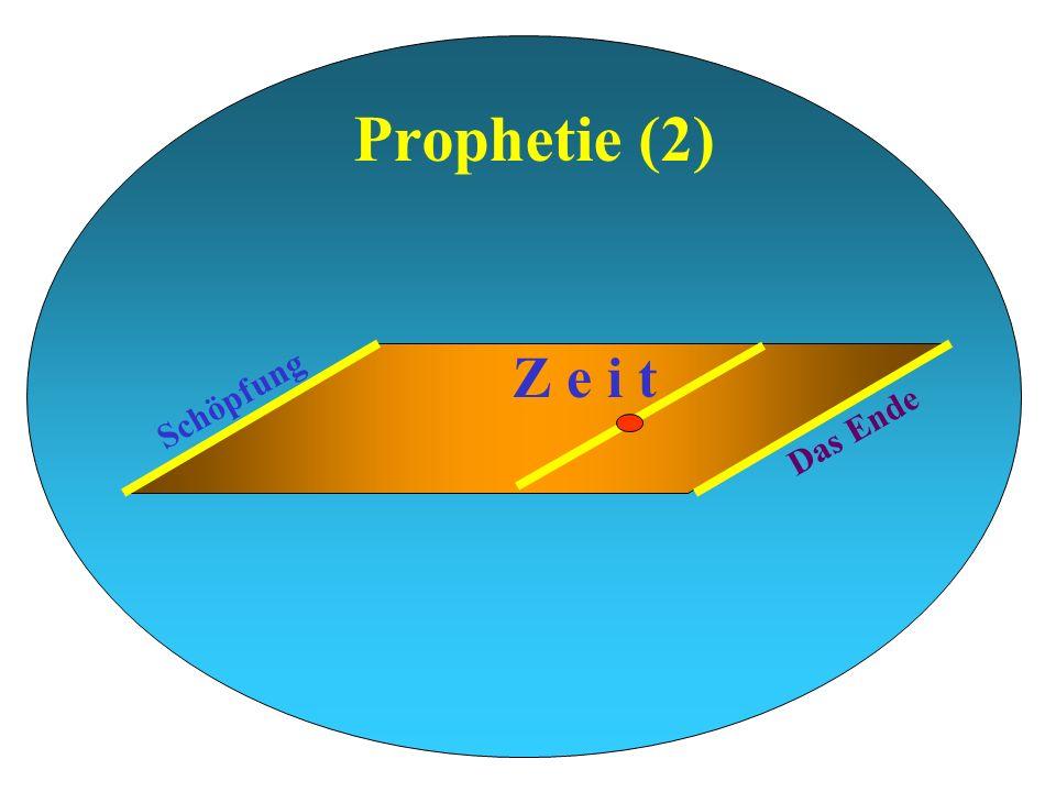 Prophetie (2) Schöpfung Das Ende Z e i t