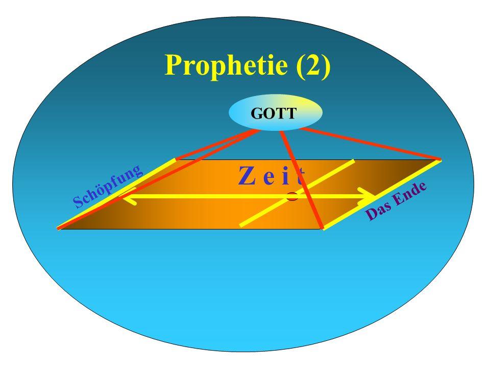 Prophetie (2) Schöpfung Das Ende Z e i t GOTT