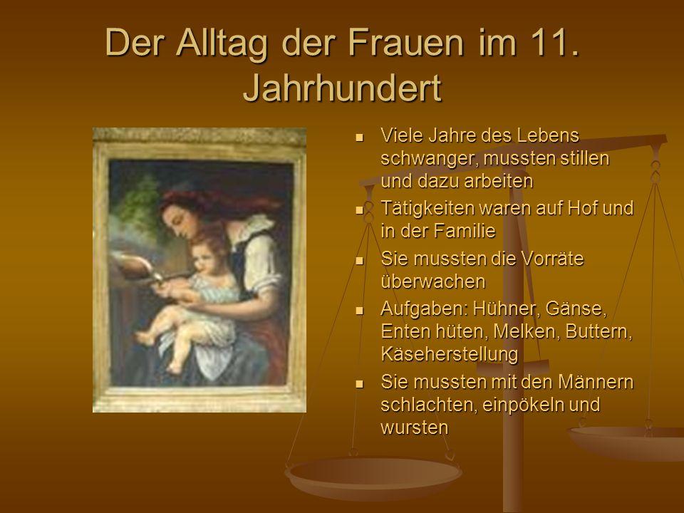 Die Familie und Ehe im 11. Jahrhundert Mit Haus ist auch Familie gemeint Mit Haus ist auch Familie gemeint Bauer war meistens Hausherr Bauer war meist