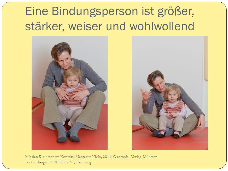 Eine Bindungsperson ist größer, stärker, weiser und wohlwollend Mit den Kleinsten im Kontakt; Margarita Klein, 2011, Ökotopia - Verlag, Münster Fortbi