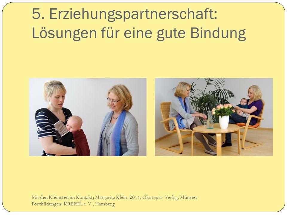 5. Erziehungspartnerschaft: Lösungen für eine gute Bindung Mit den Kleinsten im Kontakt; Margarita Klein, 2011, Ökotopia - Verlag, Münster Fortbildung