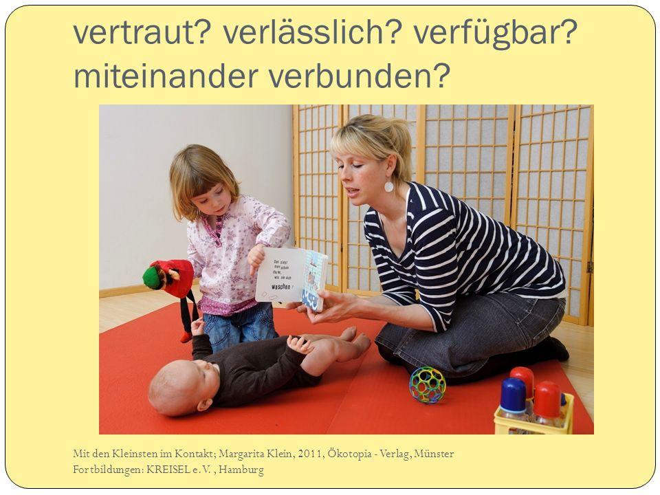 vertraut? verlässlich? verfügbar? miteinander verbunden? Mit den Kleinsten im Kontakt; Margarita Klein, 2011, Ökotopia - Verlag, Münster Fortbildungen
