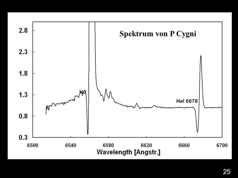 HαHα HeI 6678 Spektrum von P Cygni 25