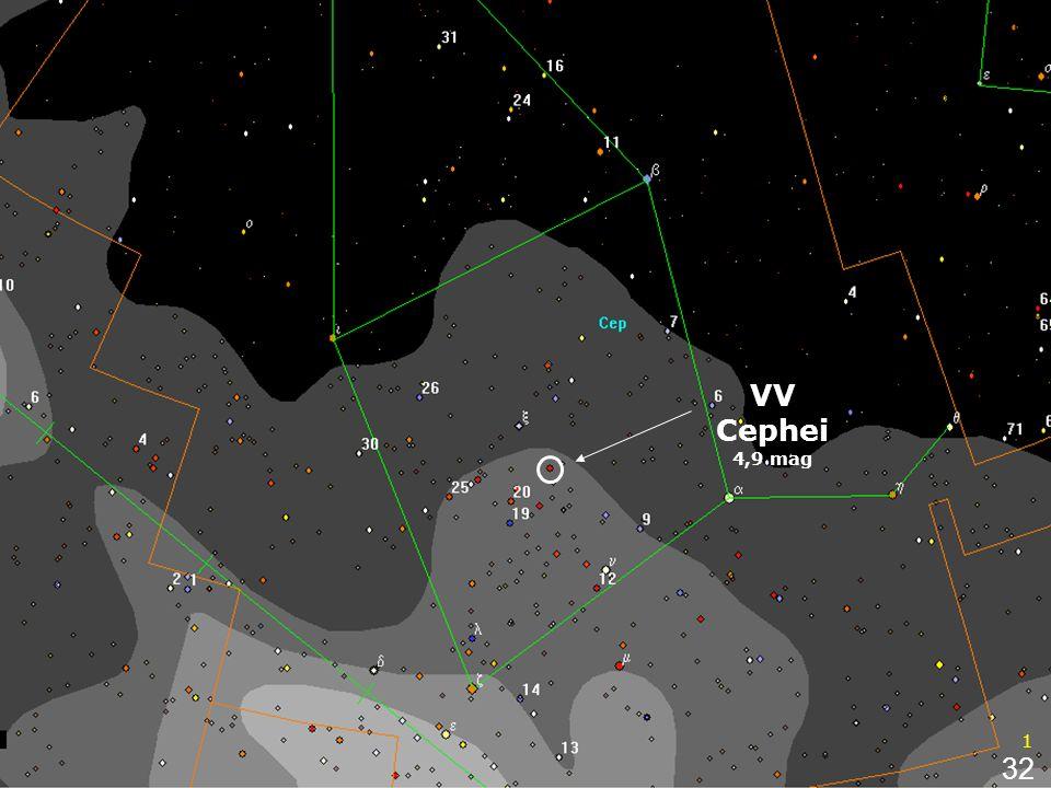 3 VV Cephei 4,9 mag 1 32