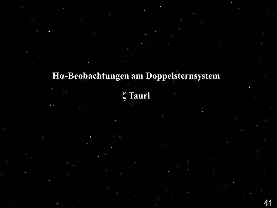 Hα-Beobachtungen am Doppelsternsystem ζ Tauri 41