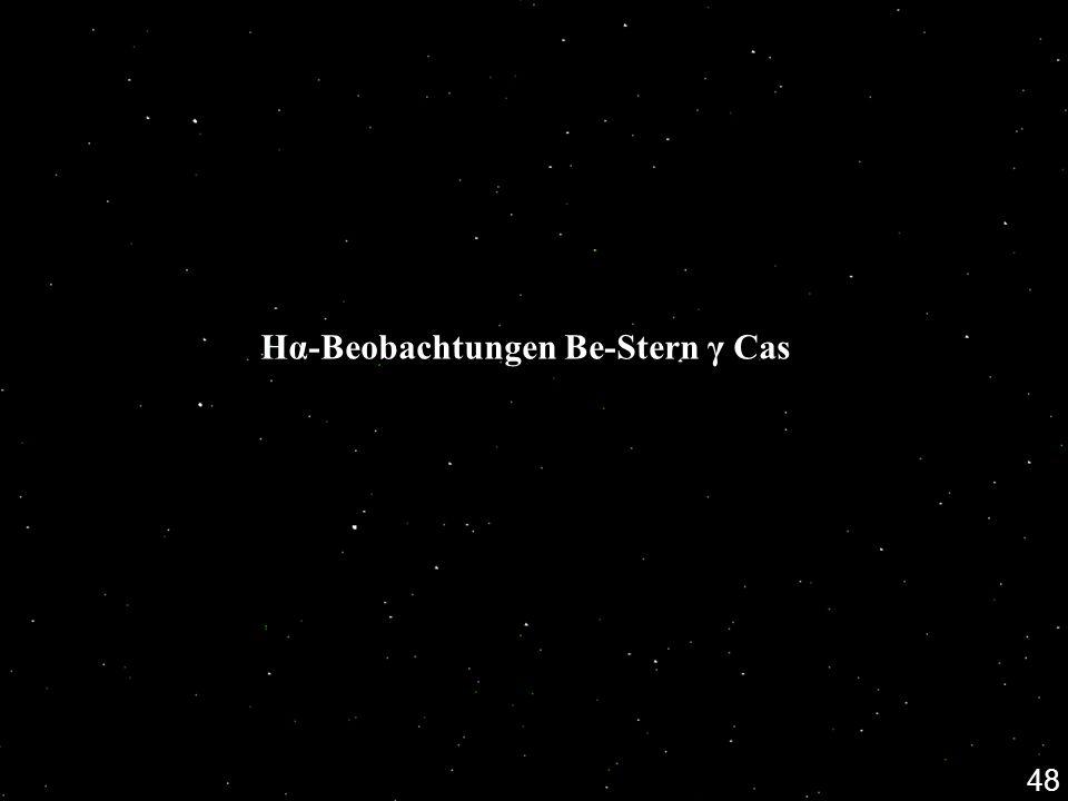 Hα-Beobachtungen Be-Stern γ Cas 48