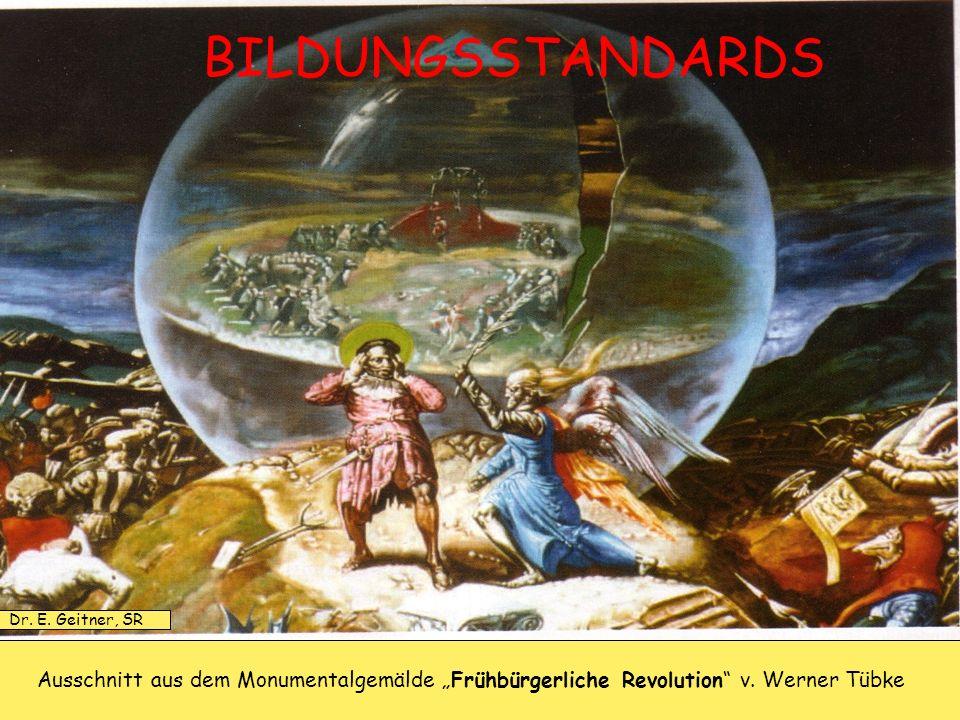 Ausschnitt aus dem Monumentalgemälde Frühbürgerliche Revolution v. Werner Tübke BILDUNGSSTANDARDS Dr. E. Geitner, SR