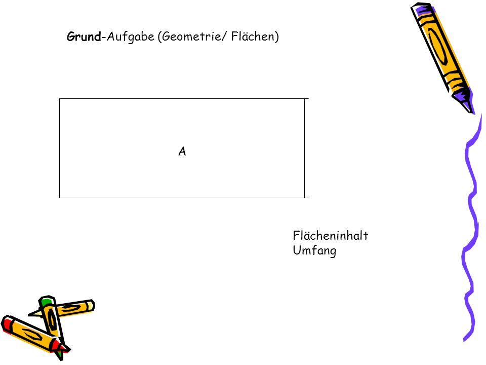 Grund-Aufgabe (Geometrie/ Flächen) A Flächeninhalt Umfang