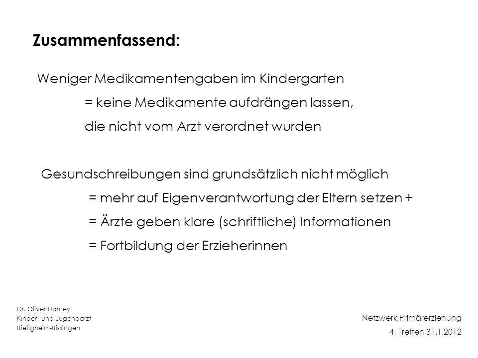 Dr.Oliver Harney Kinder- und Jugendarzt Bietigheim-Bissingen Netzwerk Primärerziehung 4.