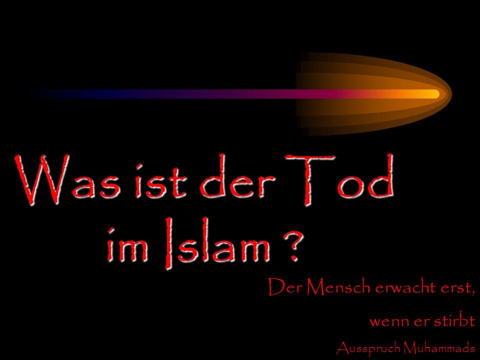 Was ist der Tod im Islam ? Der Mensch erwacht erst, wenn er stirbt Ausspruch Muhammads
