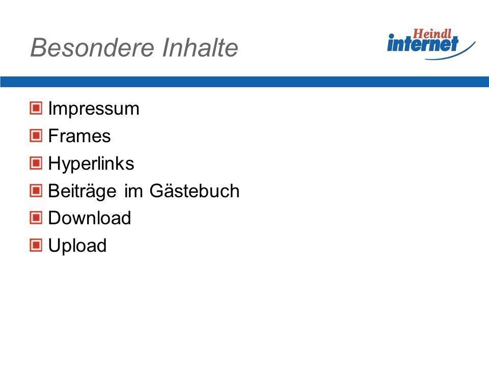 Zitierte Website Fremde Website hat einen Bereich übernommen (Webkolumne von www.heindl.de) Aktion wird toleriert, da Quellangabe mit Link vorhanden