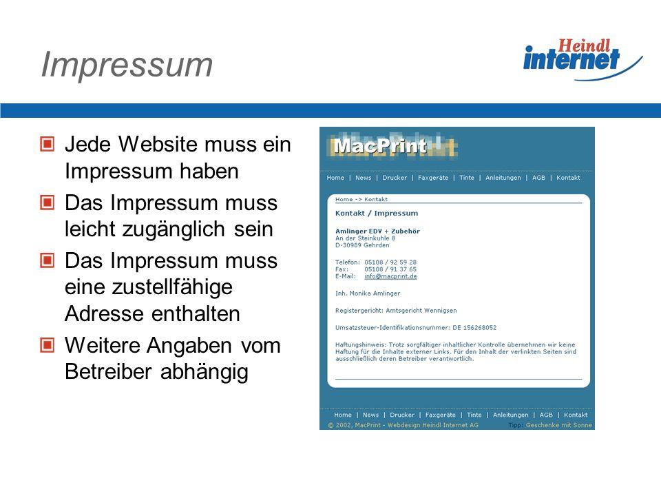 Besondere Inhalte Impressum Frames Hyperlinks Beiträge im Gästebuch Download Upload