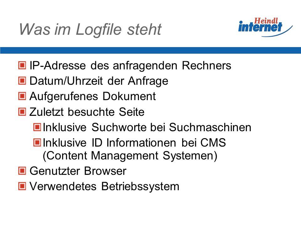 Daten sammeln Informationen im Logfile Daten beim Anmelden von Nutzern Daten aus Bestellungen Daten sammeln in fremden Seiten