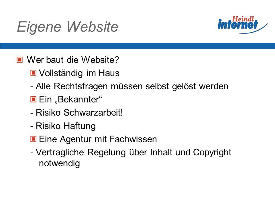 Eigene Website Verkaufen im WWW Daten sammeln Internetzugang der Firma Privater Internetzugang Spam – Unerwünschte Mails WLAN – offene Funknetze Inhal
