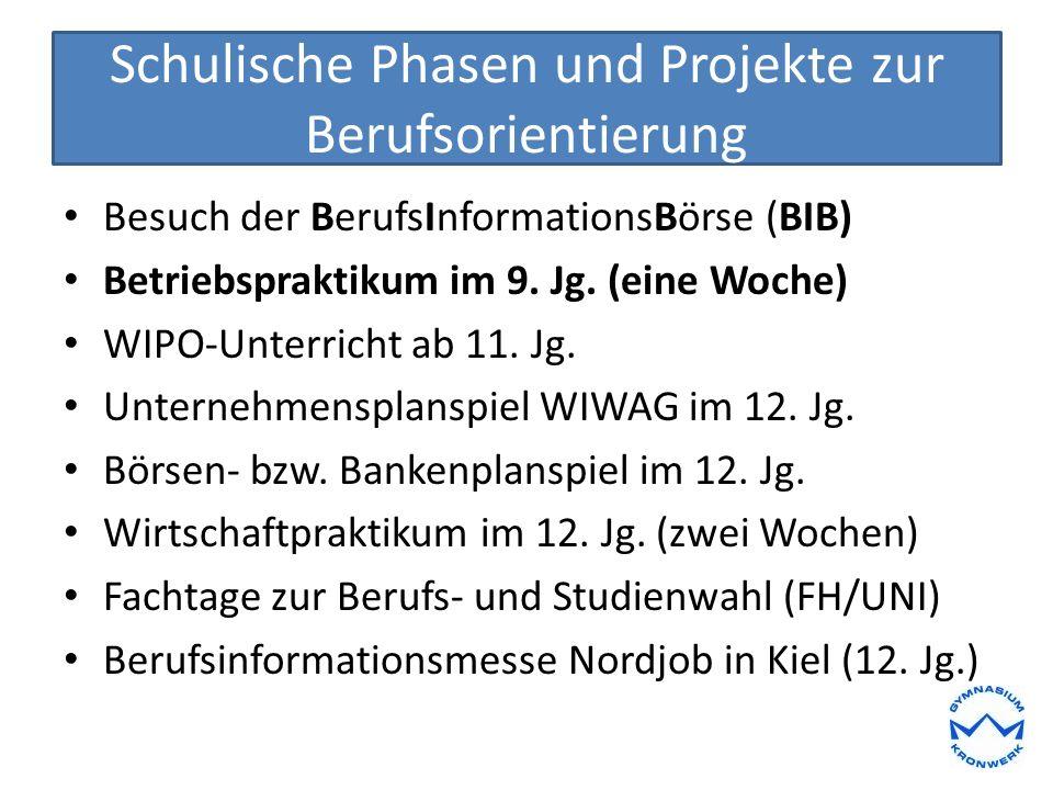 Tests und Training Berufseignungstest durch geva-Institut (11.Jg.) Studienfeldbezogene Tests (13.