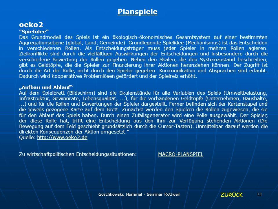 Goschkowski, Hummel - Seminar Rottweil 13 Planspiele oeko2