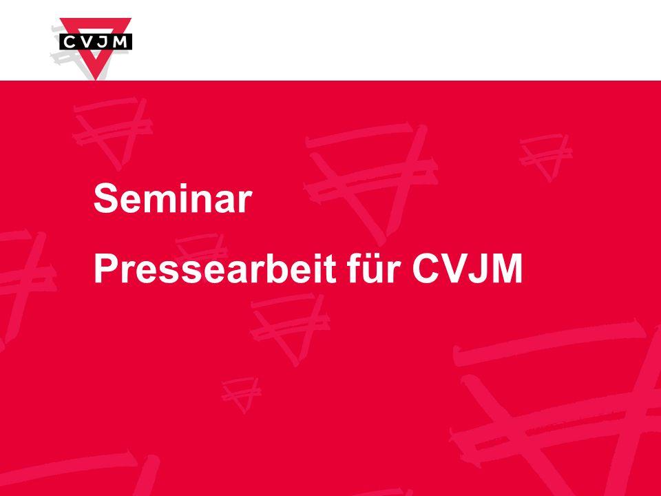 Seminar Pressearbeit für CVJM