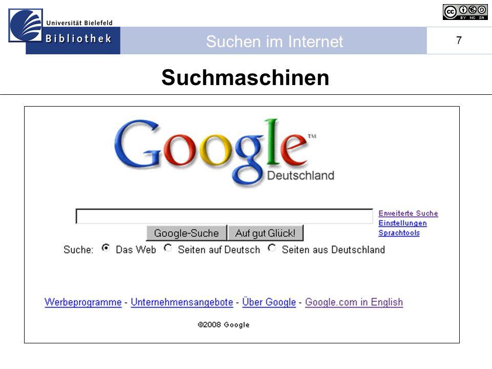 Suchen im Internet 7 Suchmaschinen
