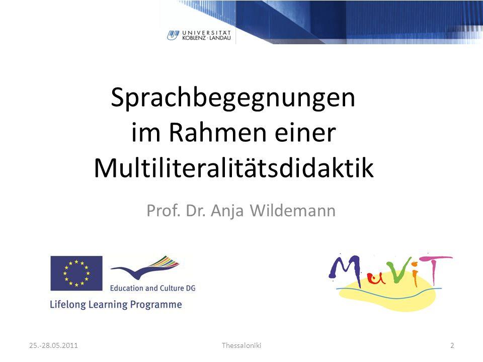 Sprachbegegnungen im Rahmen einer Multiliteralitätsdidaktik Prof.